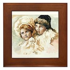 Two Sisters Framed Tile