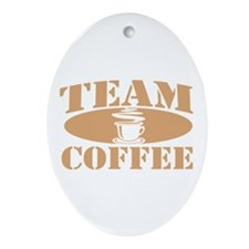 Team Coffee Oval Ornament