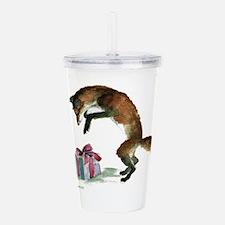 foxpresent.jpg Acrylic Double-wall Tumbler