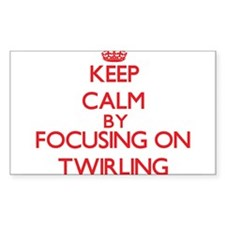Keep Calm by focusing on Twirling Decal