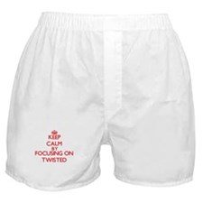 Keep Calm by focusing on Twisted Boxer Shorts