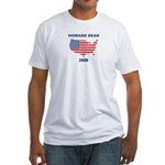 HOWARD DEAN 2008 (US Flag) Fitted T-Shirt