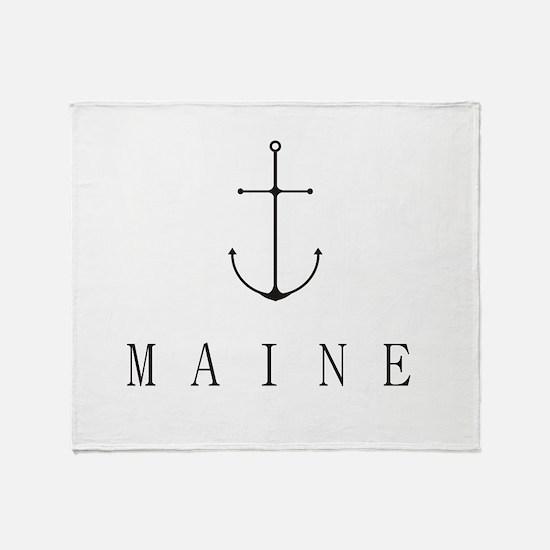 Maine Sailing Anchor Throw Blanket