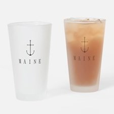 Maine Sailing Anchor Drinking Glass