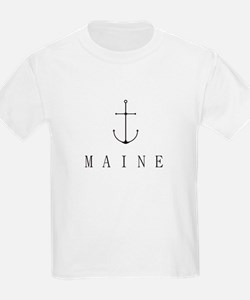 Maine Sailing Anchor T-Shirt