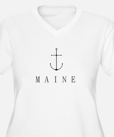 Maine Sailing Anchor Plus Size T-Shirt