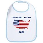 HOWARD DEAN 2008 (US Flag) Bib