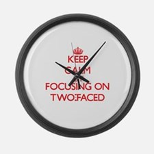 Keep Calm by focusing on Two-Face Large Wall Clock