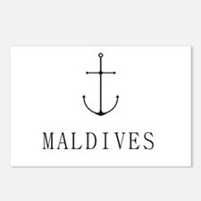 Maldive Sailing Anchor Postcards (Package of 8)
