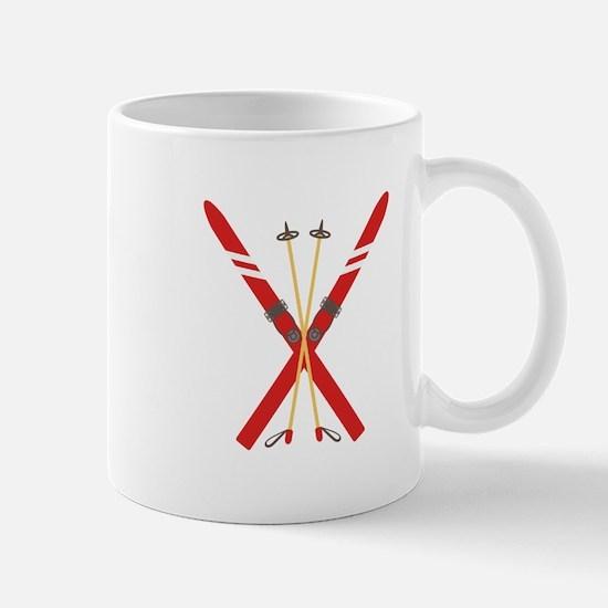 Vintage Ski Poles Mugs