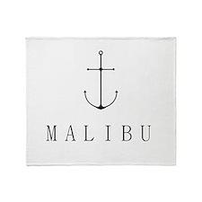 Malibu Sailing Anchor Throw Blanket