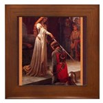 Edmund_blair_leighton_accolade2.png Framed Tile