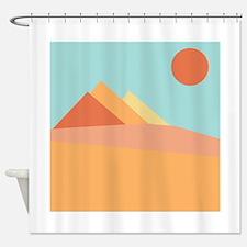 Pyramid Scene Shower Curtain