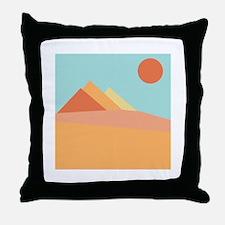 Pyramid Scene Throw Pillow