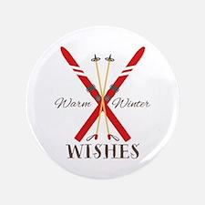 """Warm Winter Wishes 3.5"""" Button"""
