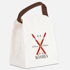 Warm Winter Wishes Canvas Lunch Bag
