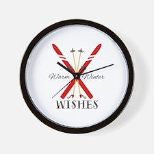 Warm Winter Wishes Wall Clock