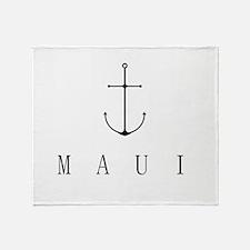 Maui Sailing Anchor Throw Blanket