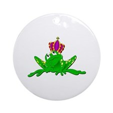 Frog King Ornament (Round)