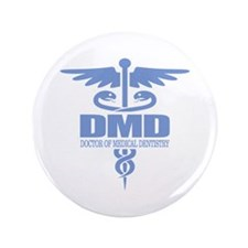 "Caduceus DMD 3.5"" Button"