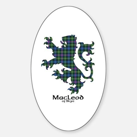 Lion-MacLeodSkye Sticker (Oval)