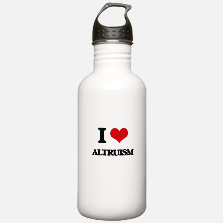I Love Altruism Water Bottle