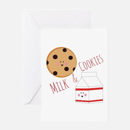 Milk Cookies Greeting Cards