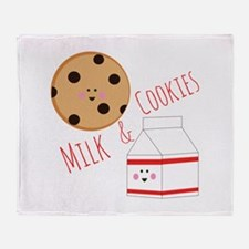 Milk Cookies Throw Blanket