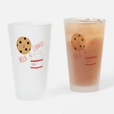 Milk Cookies Drinking Glass