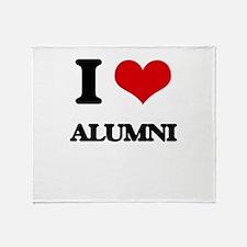 I Love Alumni Throw Blanket