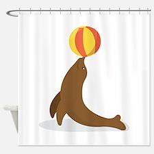 Circus Seal Shower Curtain