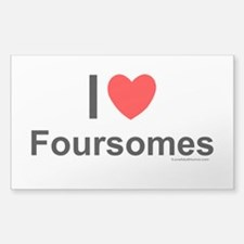 Foursomes Decal