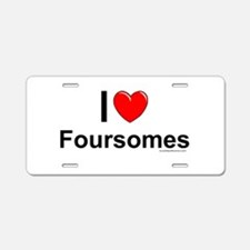 Foursomes Aluminum License Plate