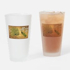 Peacock Paradise Drinking Glass