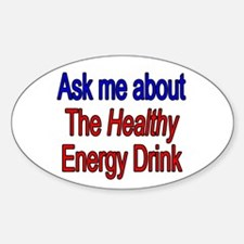 Healthy Energy Drink Oval Decal