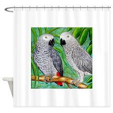 African Greys Shower Curtain