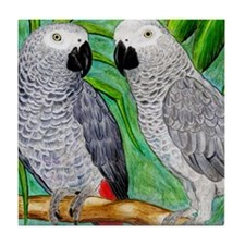 African Greys Tile Coaster