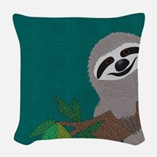 Sloth Woven Throw Pillow