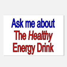 Healthy Energy Drink Postcards (Package of 8)