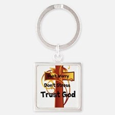 Don't Worry-Stress Cross Keychains