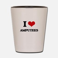 I Love Amputees Shot Glass