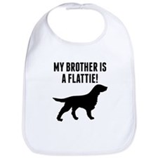 My Brother Is A Flattie Bib