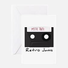 Retro Jams Greeting Cards