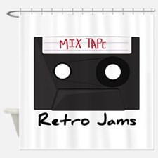 Retro Jams Shower Curtain