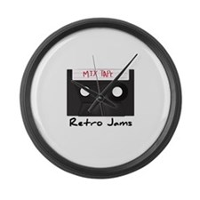 Retro Jams Large Wall Clock