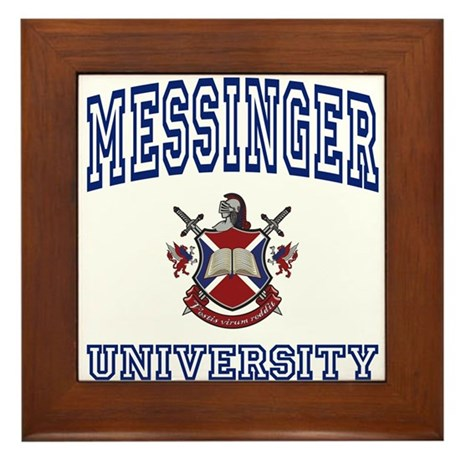 MESSINGER University Framed Tile