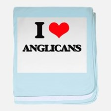 I Love Anglicans baby blanket