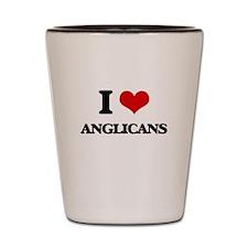 I Love Anglicans Shot Glass