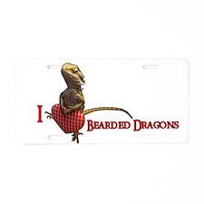 Unique Bearded dragon Aluminum License Plate