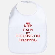 Keep Calm by focusing on Unzipping Bib
